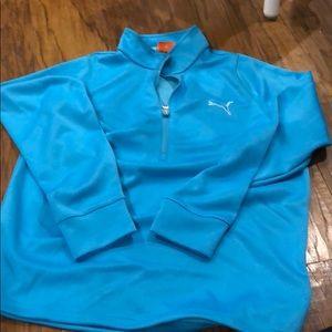 Men's puma golf half zip pullover